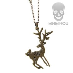 Colar Bambi Aged Gold Miniminou R$19