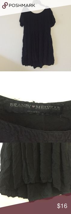 Brandy Melville Loose Black Dress Brandy Melville black loose dress. Short sleeves. One size but can most likely fit a large. Great condition and barely worn. Brandy Melville Dresses