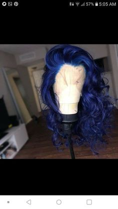 Preferred Human Straight Blue Brazilian Remy Hair Wig Lace Front Wigs for women Remy Hair Wigs, Human Hair Wigs, Natural Hair Styles, Curly Hair Styles, Baddie Hairstyles, African Hairstyles, Latest Hairstyles, Hair Laid, Birthday Hair
