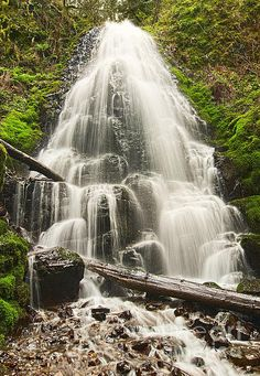 Magical Falls - Fairy Falls In The Columbia River Gorge Area Of Oregon By Jamie Pham