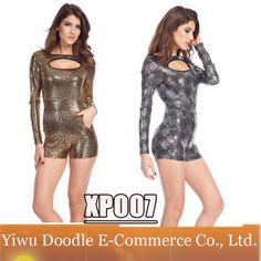 2014 New Sexy Women Clothing Casual Print Bodycon Celebrate Bandage dresses Club Mini Shorts Set Jumpersuit vestidos  Dress $19.99