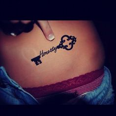 Honesty is the KEY to Everything... Love this Tattoo!
