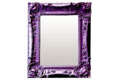 One Kings Lane - The Mirror Market - Louis XV Sweep Mirror, Purple
