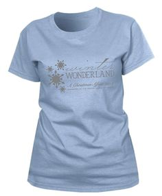 Get in the spirit of our Winter Wonderland in this Ice Blue Ladies' fine jersey tee. You will look frosty wearing the Christmas Affair logo in metallic silver. This t-shirt is a 100% cotton jersey and has a fashion fit for the feminine silhouette. This t-shirt runs a size small and is available in sizes S-XXL for only $15. JLA logo is on the back.