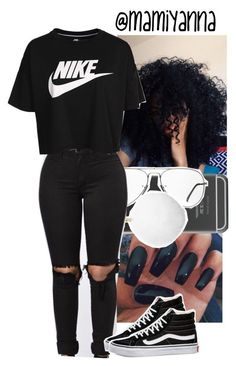 """Follow me on Twitter @mami_yanna"" by mamiyanna on Polyvore featuring Ray-Ban, Michael Kors, NIKE and Vans"