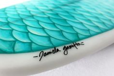 Mermaid surf board art!