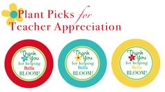 Create these plant picks for your teachers flower or plant.
