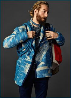 Scotch & Soda's Nordic Mountaineer jacket is front and center for an inspiring fall-winter 2016 look.
