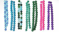 Semi precious quartzite beads dyed in bright and beautiful colors for your own jewelry designs!