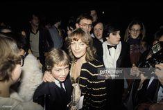 Paris, le 31 janvier 1981, Crmonie des Csars au Palais des Congrs, Romy Schneider et son fils, David., Romy Schneider attends the Cesars (French film awards) with her son, David. ,
