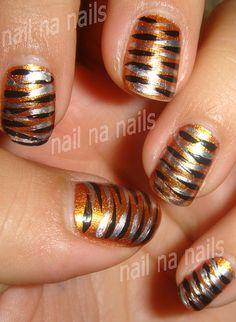 Tiger Nails | OPI Legs Celebrate nailnanails.blogspot.com/20… | Flickr