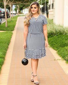 Plus size outfits Simple Outfits, Simple Dresses, Casual Dresses, Fashion Dresses, Vestidos Plus Size, Plus Size Dresses, Plus Size Outfits, Ladies Day Dresses, Plus Size Summer Outfit