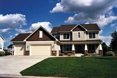Lovely craftsman style home with an open floor plan.  House Plan # 481003.