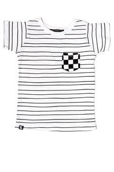 Stripe Checker Pocket Tee by Mini and Maximus