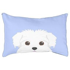 #Maltese Dog Portrait Pet Bed - #dogbeds #dogbed #puppy #dog #dogs #pet #pets #cute #doggie