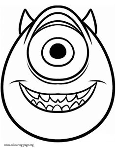 Come have fun coloring this amazing picture of Mike, the protagonist from upcoming movie Monsters University! Just print it!