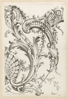 Alexis Peyrotte, 'Shell Cartouches and Acanthus Leaf Motif,' 1740, Cooper Hewitt, Smithsonian Design Museum