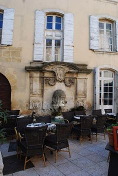 {Restaurant in the beau village of Lourmarin} Malheureusement, our vacance in la belle Provence is coming to an end and tomorrow we will be ...