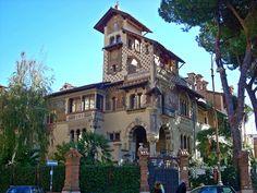 """""""il Villino Delle Fate"""" (The Fairy House) in the Coppedè District, Roma."""