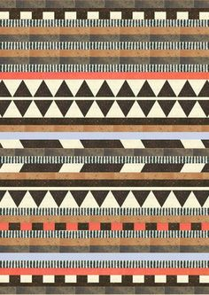 quilt inspiration Aztec by Dawn Gardner Ethnic Patterns, Textile Patterns, Textile Design, Print Patterns, Geometric Patterns, Geometric Art, Surface Pattern, Pattern Art, Surface Design