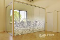 "Decorative Films | Window Film | Stained Glass | Privacy | Treatment - SOLYX: SXJ-0565 Namibia Gradient. 71"" High"