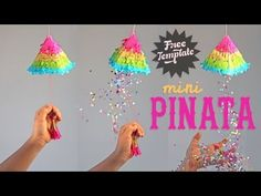 Click here for mini pinata tutorial and free printable template by Happythought. Fun and easy!
