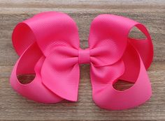 Camelia Rose Hair Bow~NEW COLOR~Boutique Hair~Boutique Hairbows~Boutique Hair Bow~Basic Boutique Bow~Pink Hair Bow~Easter Boutique Bows by LizzyBugsBowtique on Etsy