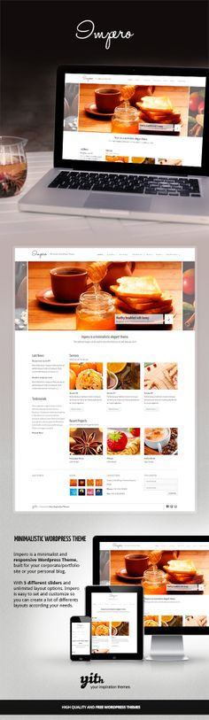 IMPERO – MINIMALISTIC WORDPRESS THEME by Your Inspiration , via Behance