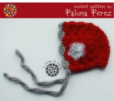 Crochet Baby Bonnet  Pattern - Sweet bonnet crochet pattern - Baby hat crochet pattern
