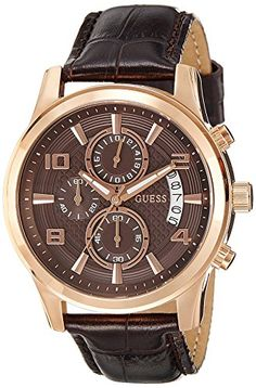 Guess Herren-Armbanduhr Analog Quarz Leder W0076G4 - http://herrentaschenkaufen.de/guess/guess-herren-armbanduhr-analog-quarz-leder