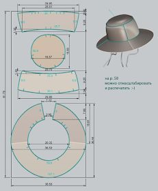 Awesome Photo of Hat Sewing Patterns Hat Patterns To Sew, Doll Patterns, Sewing Patterns, Sewing Hacks, Sewing Crafts, Sewing Projects, Leather Hats, Leather Craft, Costura Fashion