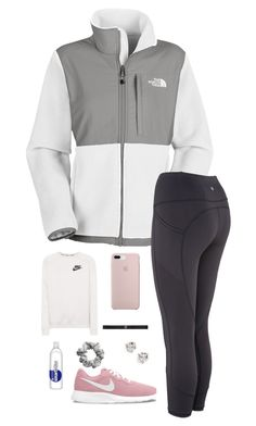 """Sporty January"" by chance16 ❤ liked on Polyvore featuring The North Face, NIKE, lululemon, Kate Spade and H&M"