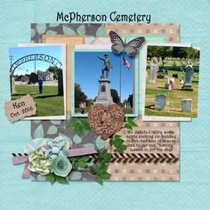 "Hubby and I went apple picking in October of 2016. On the way there we past McPherson's  cemetery, so had to stop for a ""history"" lesson (for me, given by him, LOL). Template used: Side by Side Templates by Miss Fish Designs Template link: http://store.gingerscraps.net/Side-by-Side-Templatez.html Kit used: Tree of Life by Aimee Harrison Designs Kit link: https://www.digitalscrapbookingstudio.com/digital-art/bundled-deals/tree-of-life-collection/"