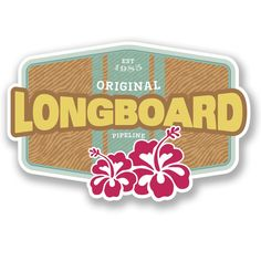 Amazon.com : 2 x Longboard Surfboard Vinyl Stickers : Everything Else