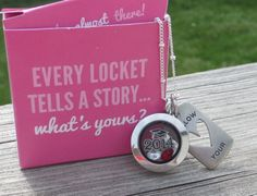 Graduation locket...can be customized to add a graduation cap, year and school colors... can be for either high school or college! www.sandygale.origamiowl.com