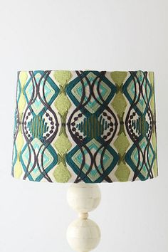 Lampshade from Anthropologie. I wonder how long it would take to embroider something like this myself....