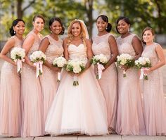Missing my beautiful #bridesmaids and best friends today!  It's been a year since I stumbled upon these stunning dresses and KNEW they were the ones! Bidesmaid dresses by @adriannapapell Photo by @laurenfisherphotography