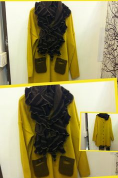 2012 F/W Jessica's proposal Exit 12: Long & lean pullover  style lined with button at back: matched with retro croche muffler