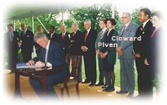 Why the Globalists Selected Obama to be President Cloward and Piven present at the signing of NAFTA. This plot has been a long time coming.