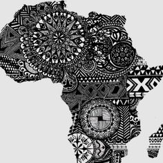 Africa by Design by Laura Kayon. It's Africa. Even when I began thinking Brazil. It was Africa. My heart is already there. God made me for it. Map Afrique, Tatoo Africa, Afrika Tattoos, Tattoos Mandalas, Art Carte, Photo D Art, Africa Fashion, African Culture, Doodle Art