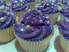 My dream cupcake. Purple sparkle!
