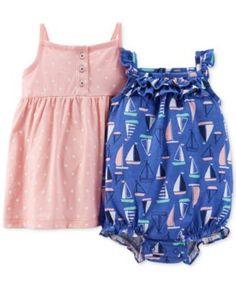 Carter's Baby Girls' 2-Piece Dress & Romper Set