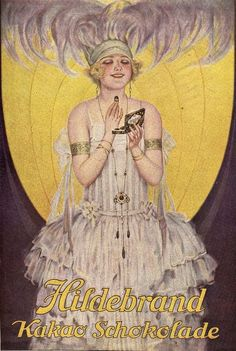 Hildebrand brand chocolate cocoa advertisement, Jugend Magazine 1925 http://www.pinterest.com/source/olosta.tumblr.com/