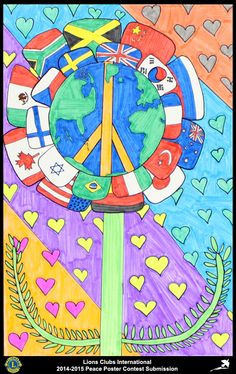 2014-15 Lions Clubs International Peace Poster Competition submission from Marquette Lions Club in Michigan