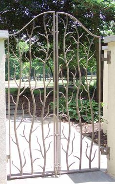 Metal gates which have a hand crafted feel about them.