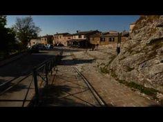 Castello di Frontone e Panorama dall'Adriatico al Gruppo del Catria (man...