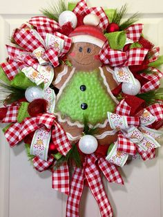 Christmas Mesh Wreath on Etsy, $105.00