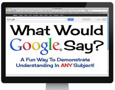 FREE What Would Google Say? is a resource that is used to demonstrate understanding of a concept based on instruction or research. It also helps students categorize and summarize information. It can be used in ANY subject!