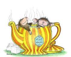 Ellen Jareckie —  (750x605)  mouse art teapot hot tub