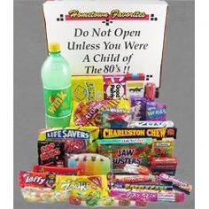 candy from the 80's | 80's Decade Box Gift Basket - Classic 80's Candy